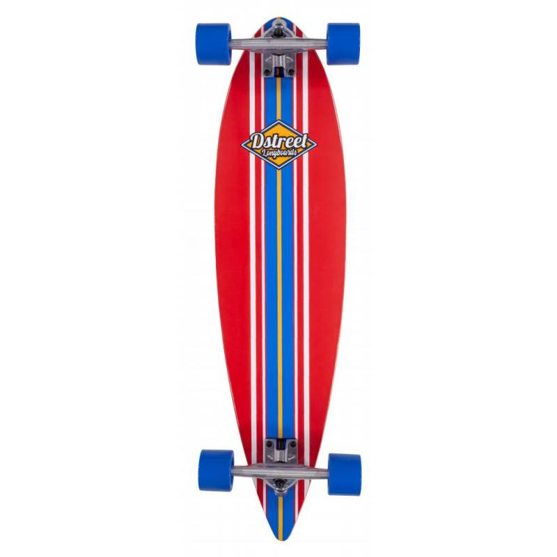 Longboard D-Street Tropical 35″ Pintail Red - Longbordi
