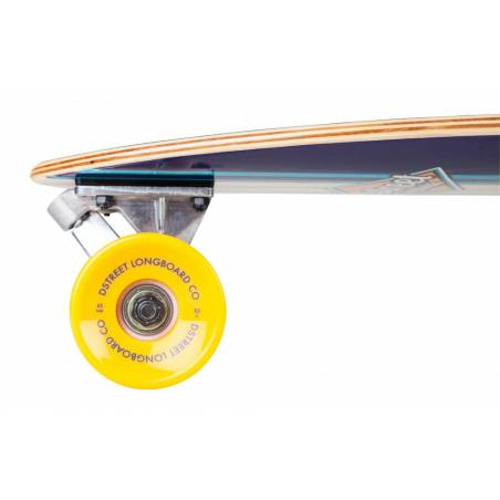 Longboard D-Street Tropical 35″ Pintail Blue - Longbordi